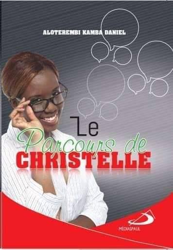 La couverture du livre le parcours de Christelle, avec image d'illustration d'une femme